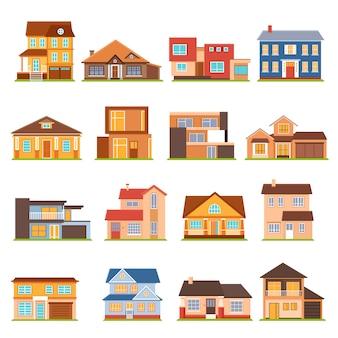 Conjunto de construcción de casa de campo