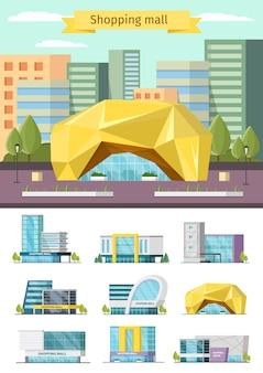 Conjunto de construcción de centro comercial