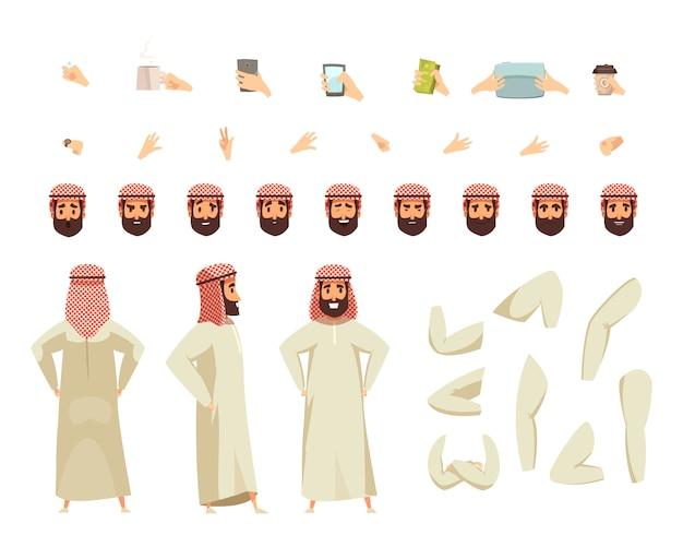 Conjunto de construcción de hombre árabe