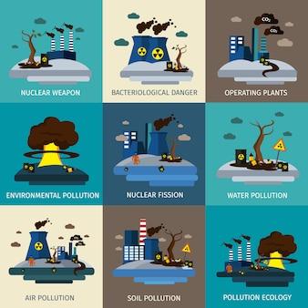 Conjunto de contaminación ambiental