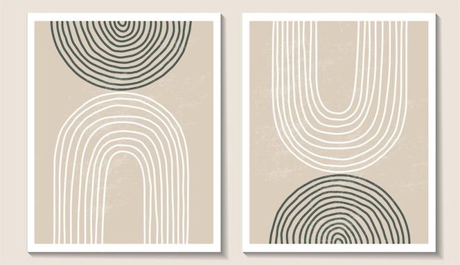 Conjunto contemporáneo de moda de composición minimalista geométrica abstracta