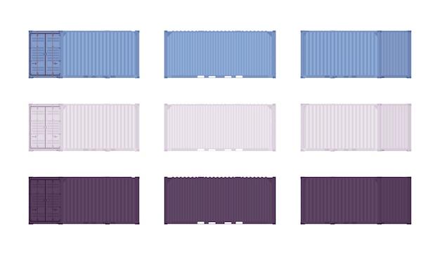 Conjunto de contenedores de carga