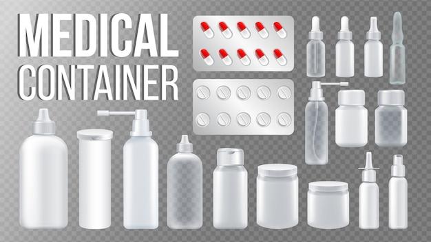 Conjunto de contenedores médicos
