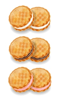Conjunto de cookies ilustración