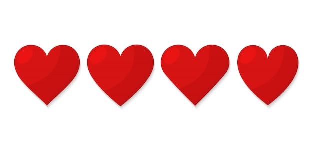 Conjunto de corazón rojo