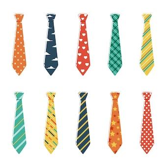 Conjunto de corbatas con diferentes colores y patrones