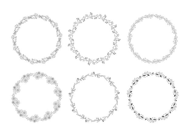 Conjunto de corona floral lindo y simple.