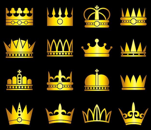 Conjunto de corona de oro