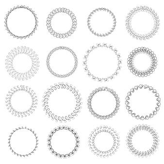 Conjunto de coronas gráficas. ilustración vectorial