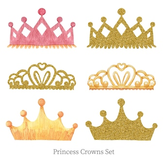 Conjunto de coronas de princesas