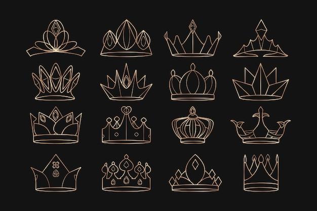 Conjunto de coronas reales