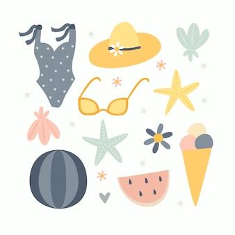 Conjunto de cosas de playa