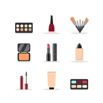Conjunto de cosméticos de estilo moderno.