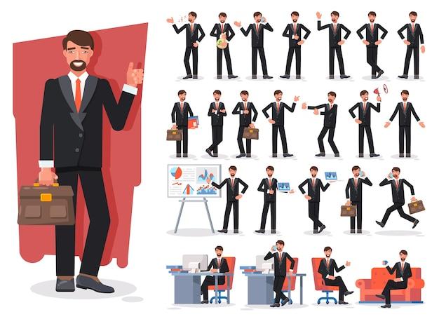 Conjunto de creación de personajes de empresario