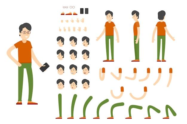Conjunto de creación de personajes planos