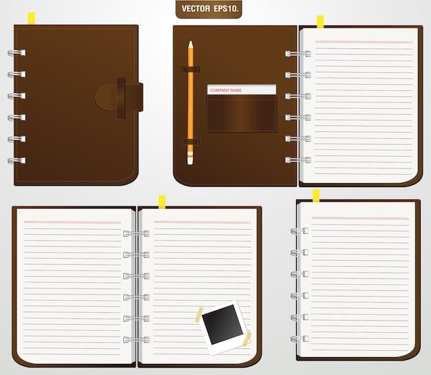 Conjunto de cuaderno marrón