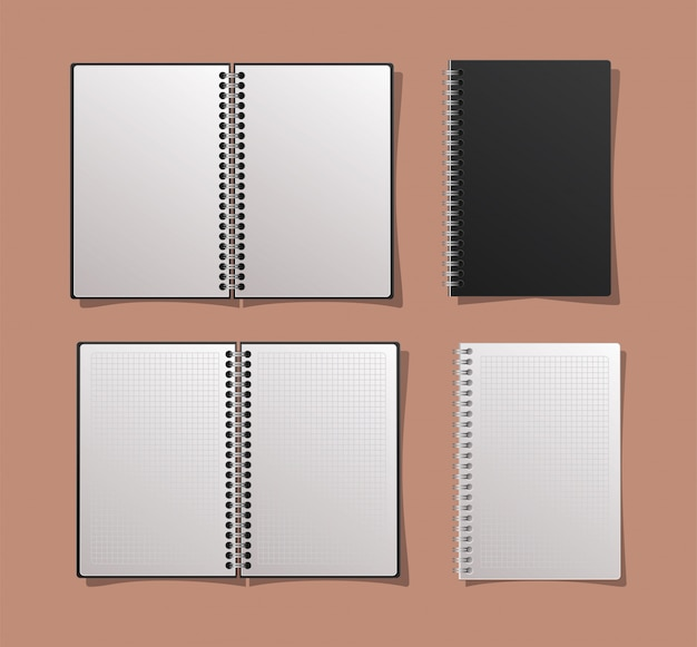 Conjunto de cuadernos de maquetas