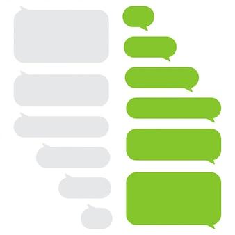 Conjunto de cuadros de chat de burbujas de mensaje