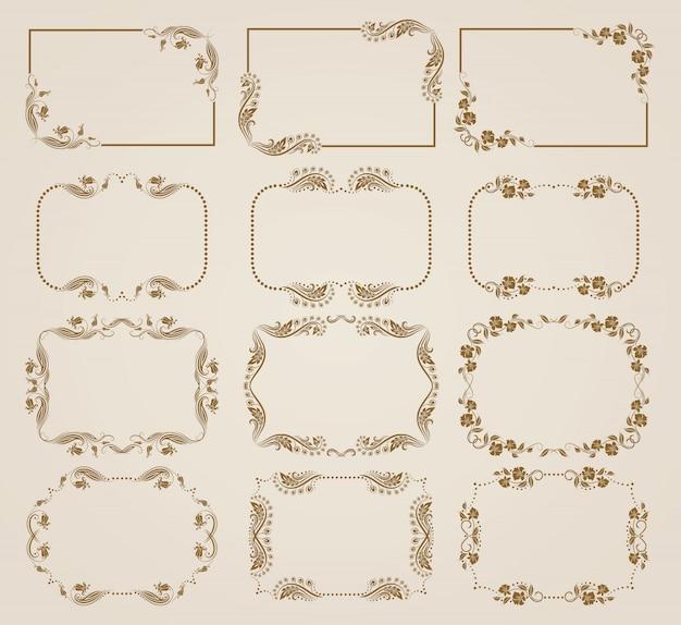 Conjunto de cuadros decorativos florales.