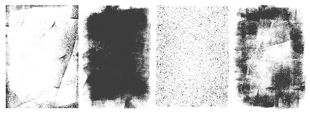 Conjunto de cuadros retro grunge abstracto