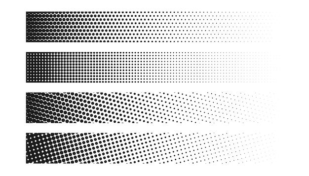 Conjunto de cuatro banners de semitono ancho