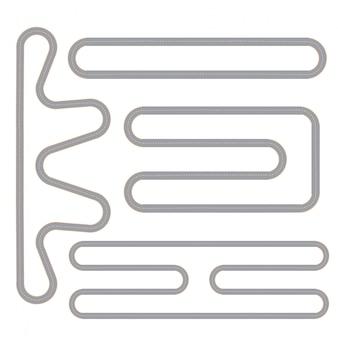 Conjunto de cuatro patrones aislados de pista de carrera