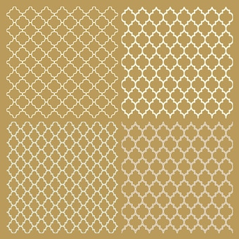 Conjunto de cuatro patrones delicados árabes tradicionales