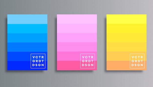 Conjunto de cubierta de degradado de colores