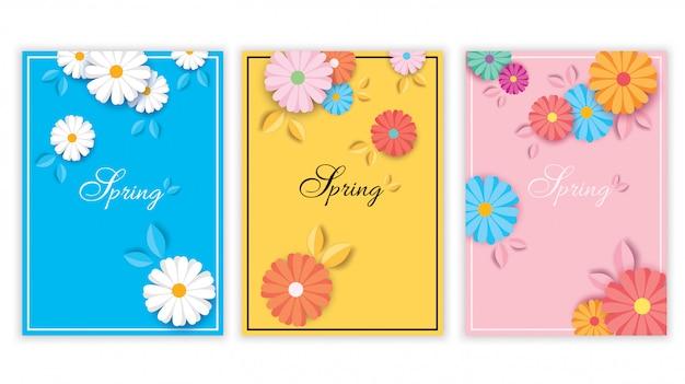 Conjunto de cubierta de flores