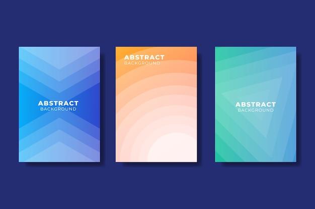 Conjunto de cubierta de formas gradiente abstractas