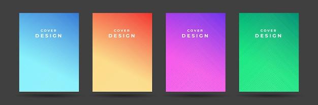 Conjunto de cubiertas abstractas modernas. plantilla de degradado de cubierta de cartel colorido.
