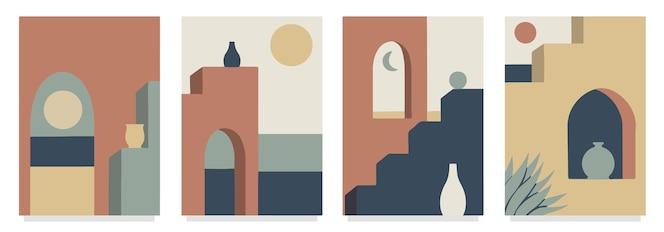Conjunto de cubiertas de arquitectura mínima