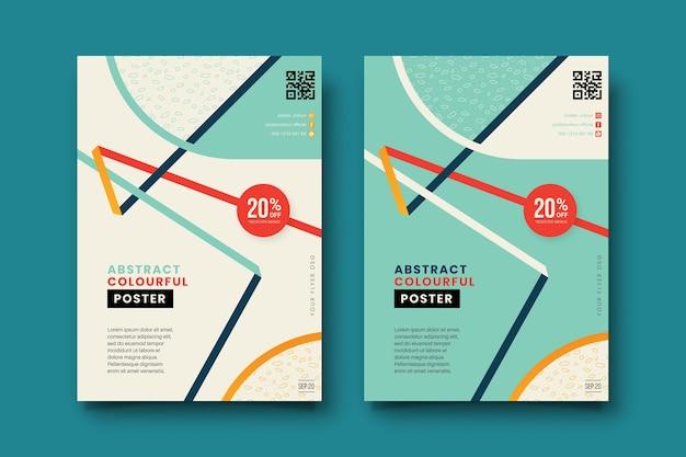 Conjunto de cubiertas coloridas abstractas