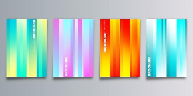 Conjunto de cubiertas coloridas degradados.