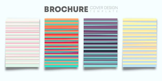Conjunto de cubiertas de degradado de color.