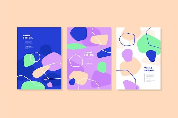 Conjunto de cubiertas de formas abstractas