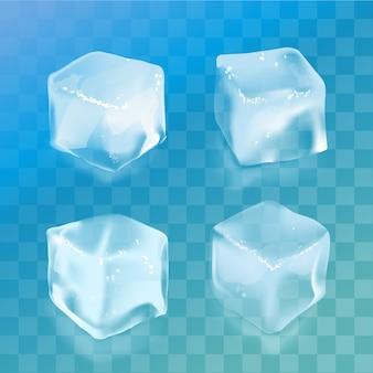 Conjunto de cubitos de hielo.