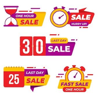 Conjunto de cuenta regresiva de ventas de banner