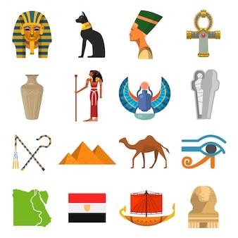 Conjunto de cultura de egipto