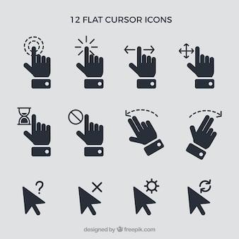 Conjunto de cursors y manos