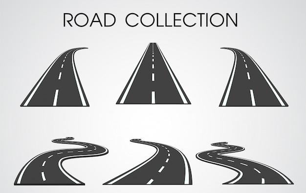 Conjunto de curvas y carreteras separadas.