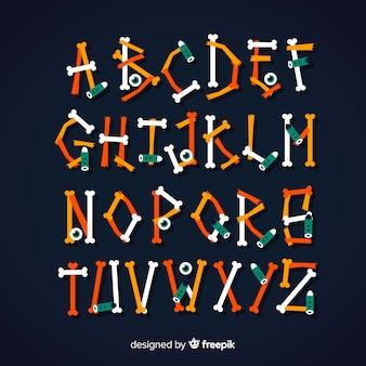 Conjunto de alfabeto de halloween