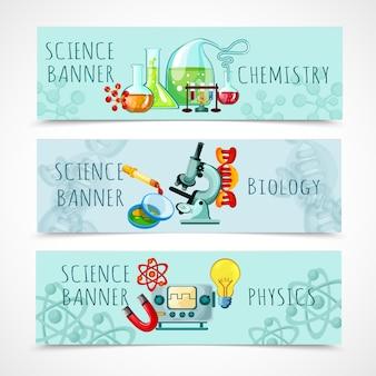 Conjunto de banner de ciencia