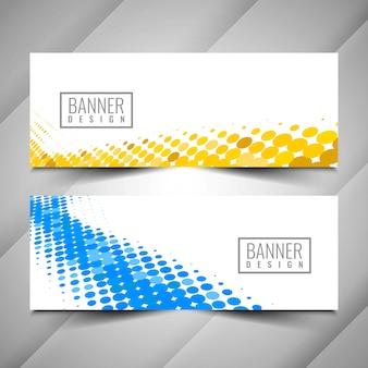 Conjunto de banner moderno abstracto