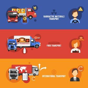 Conjunto de banners de camiones