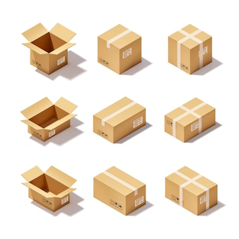 Conjunto de caja de cartón