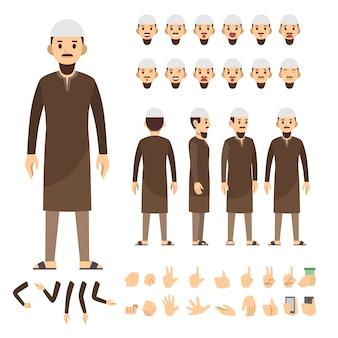 Conjunto de caracteres del hombre árabe