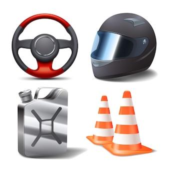 Conjunto de carreras de coches