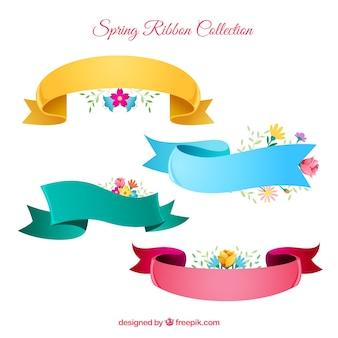 Conjunto de cintas de primavera en cuatro colores