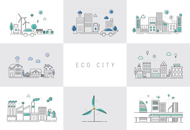 Conjunto de ciudad ecológica